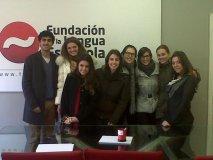 Grupo de alumnos en la sede de la Fundación (III)