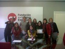 Grupo de alumnos en la sede de la Fundación