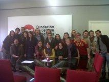 Grupo de alumnos en la sede de la Fundación (II)