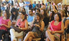 Nuestros alumnos son recibidos en el salón de recepciones del Ayuntamiento de Valladolid