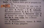 """Los usos de la palabra """"bulto"""" en español"""