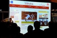 Presentación del portal web Practica español