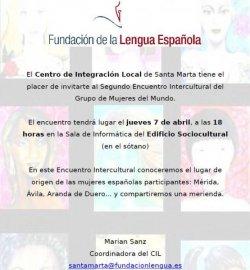 El 'Grupo de Mujeres del Mundo', impulsado por el CIL de Santa Marta de Tormes (Salamanca), centra su segunda sesión en la cultura española