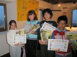 El Centro de Integración Local de Cuéllar (Segovia) entrega los premios del concurso infantil de cuentos y postales navideñas