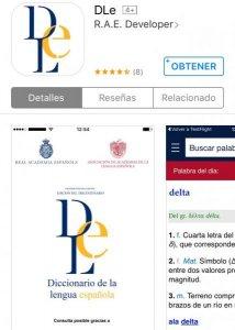 El Diccionario de la Lengua Española en el móvil