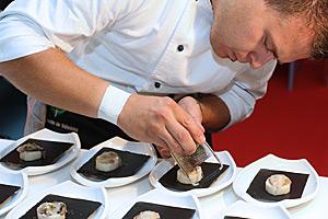 Cocinero en el concurso internacional de tapas